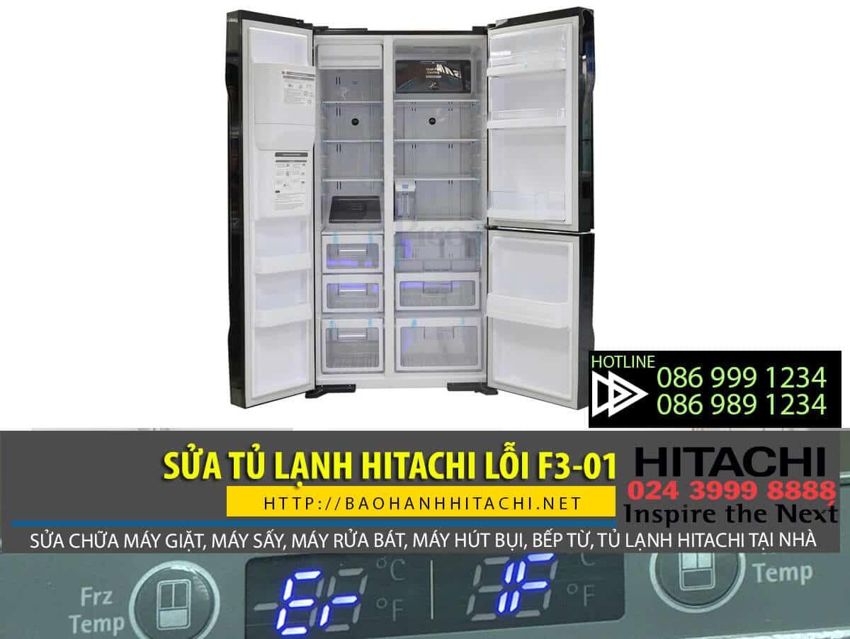 Làm gì khi tủ lạnh hitachi lỗi f3-01
