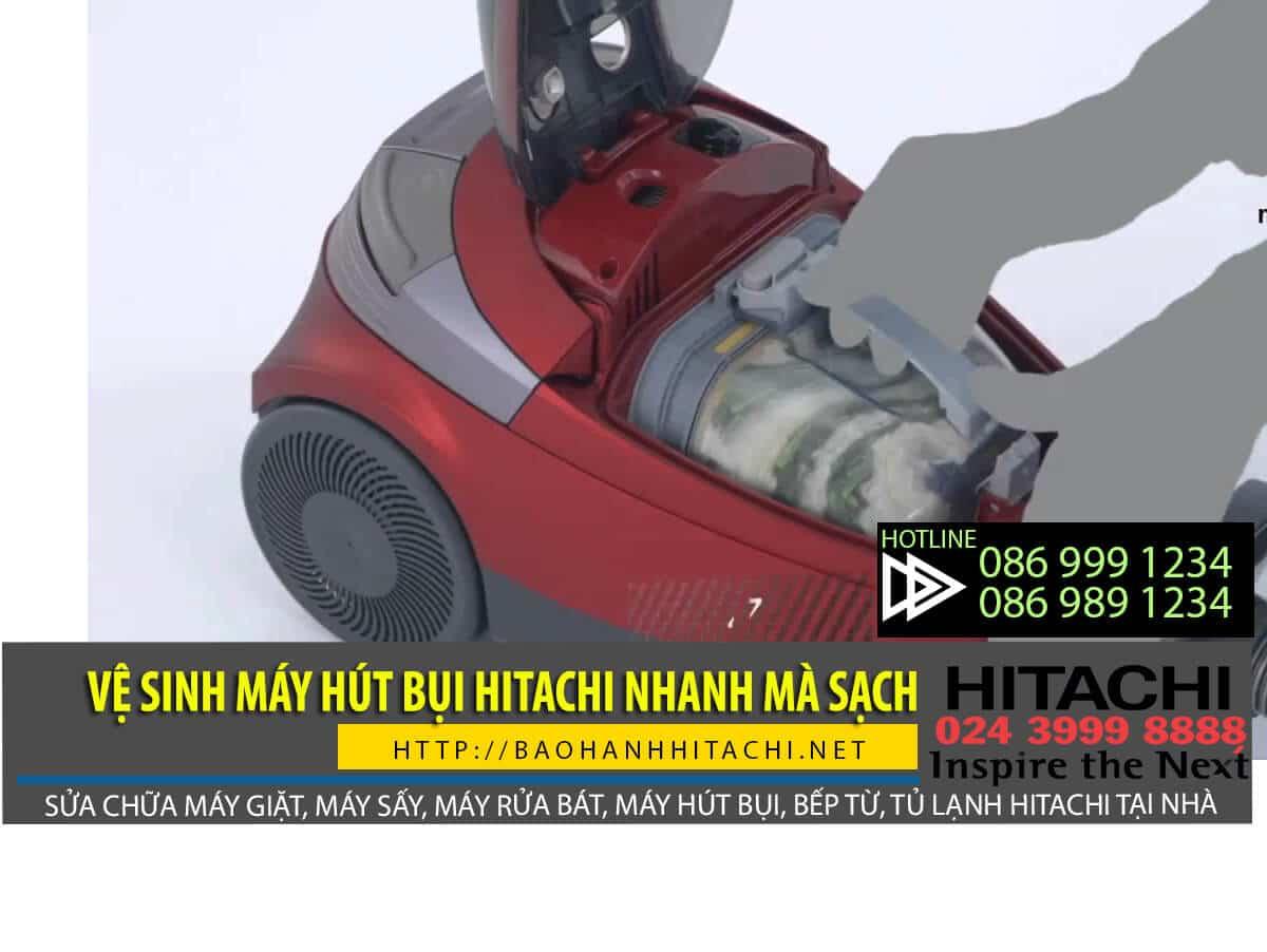 Nên vệ sinh máy hút bụi Hitachi thường xuyên để giúp máy hoạt động tốt hơn