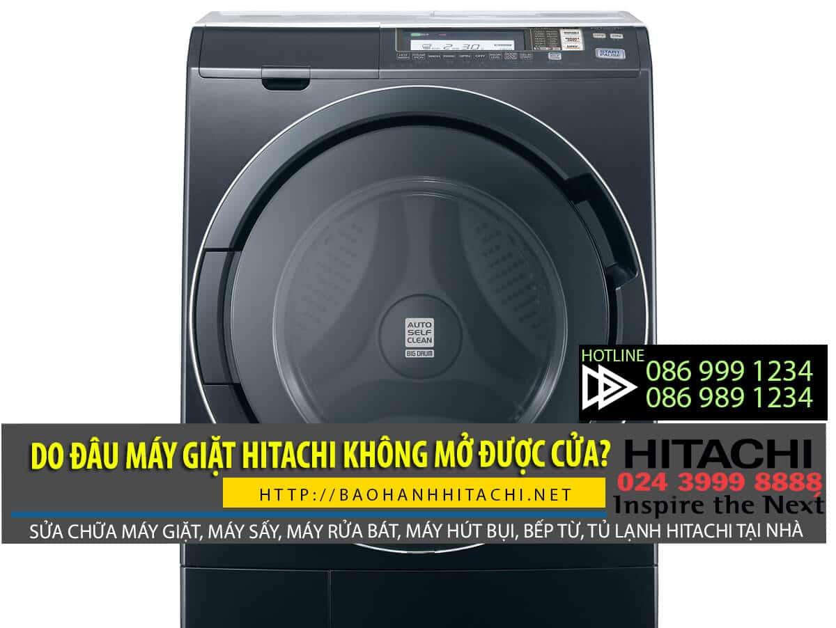 Máy giặt Hitachi không mở được cửa do hỏng công tắc cửa