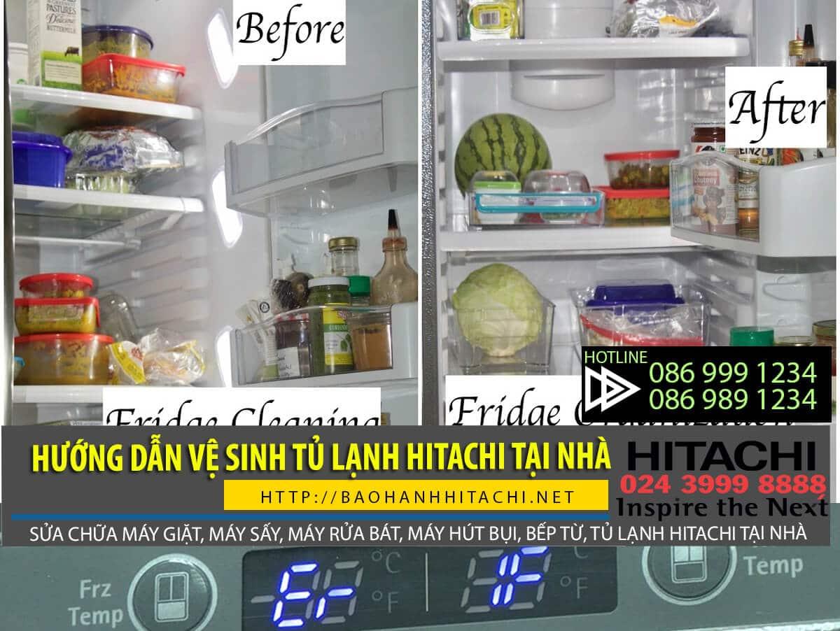 Hướng dẫn các bước vệ sinh tủ lạnh hitachi tại nhà đơn giản