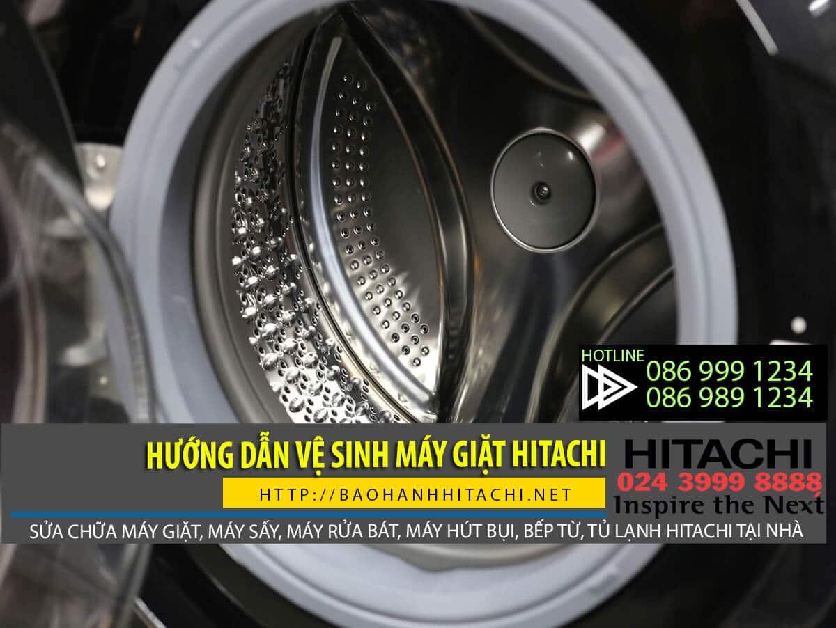 Vệ sinh máy giặt Hitachi định kỳ để lồng giặt luôn được sạch sẽ
