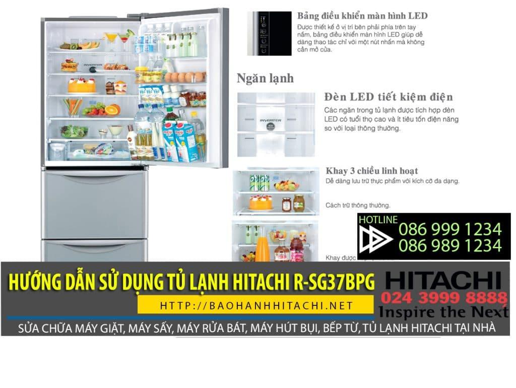 Hướng dẫn sử dụng tủ lạnh Hitachi r-sg37bpg