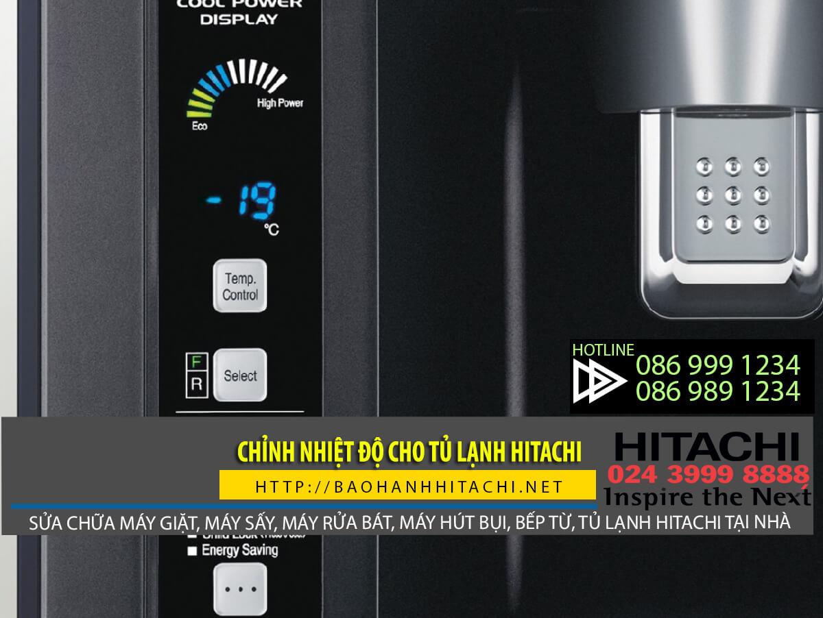 Cách chỉnh nhiệt độ tủ lạnh Hitachi đúng chuẩn