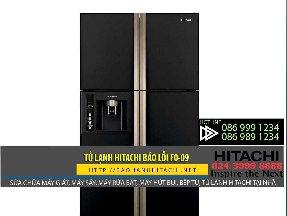 Bạn nên làm gì khi tủ lạnh Hitachi báo lỗi f0-09?