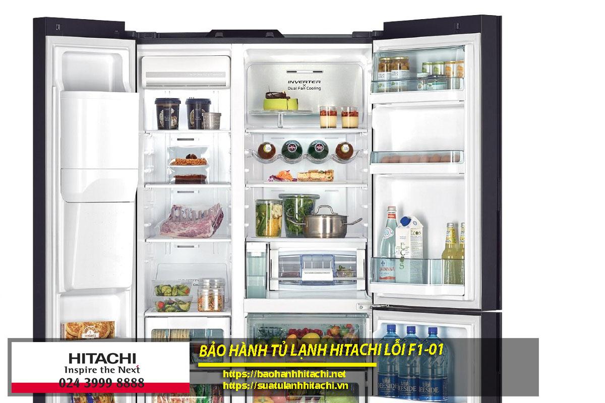 Bảo hành tủ lạnh Hitachi lỗi f1-01